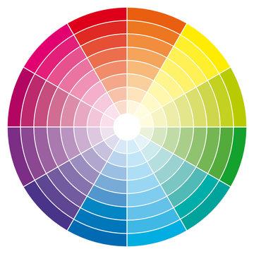 Color wheel. Guide illustration.
