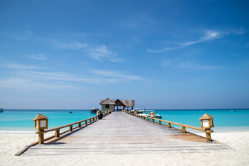 Wooden Jetty - Maldives