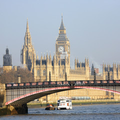 Wall Mural - London skyline, Westminster Palace