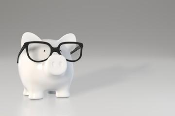 Piggy bank - glasses
