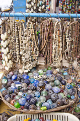ancient jewelry and necklaces in asia bazaar, India