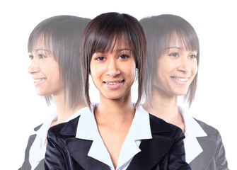 Business lady partret girl smiling business career