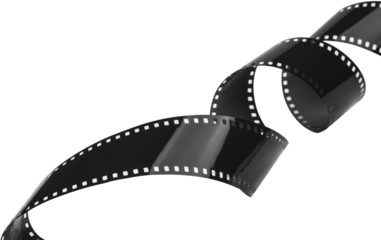 Closeup of 35mm film strip
