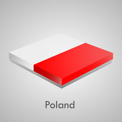 European flags set (glossy bricks) - Poland