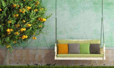 Vintage garden swing