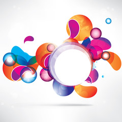 Abstract circles colored design