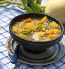 pumpkin soup in the garden