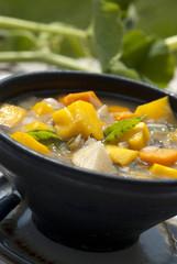 pumpkin soup in outdoor