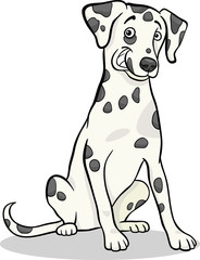 Keuken foto achterwand Honden dalmatian purebred dog cartoon illustration