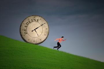 Businessman running out of deadline