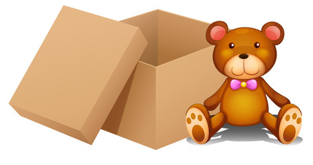 A toy and a box