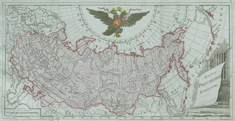 Wall Mural - Russia old map