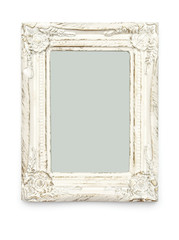 Empty White Picture Frame