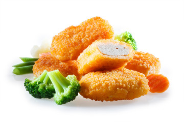 nuggets with vegetables Wall mural