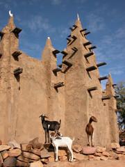 Mosquée Dogon et chèvre