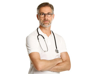 Arzt beim posen