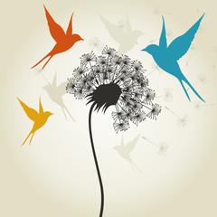 Birds a flower3