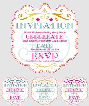 INVITATION Birthday 30th