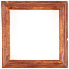 old wooden frame on a white background