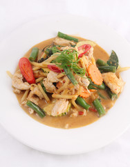 Chicken red curry, Thai food.