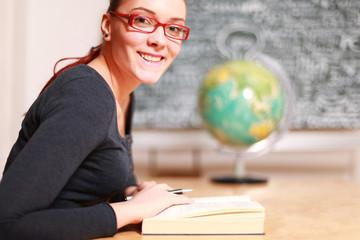 hübsche Lehrerin