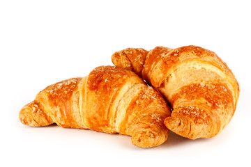 Croissant su sfondo bianco