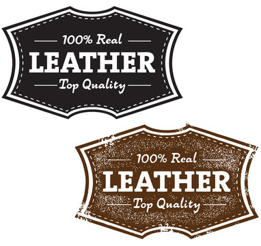 Vintage Real Leather Stamp