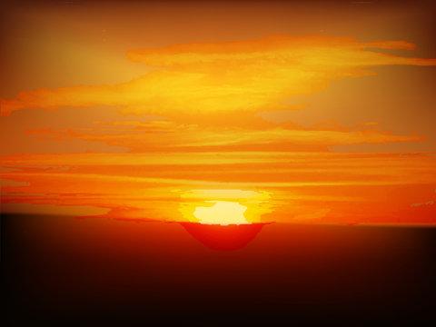 初日の出 夕焼け 風景