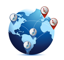 globe with international economy situations