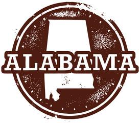 Alabama USA State Stamp