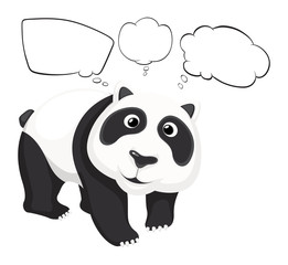 A giant panda with empty callouts