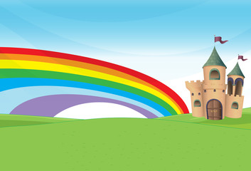 A castle and the rainbow