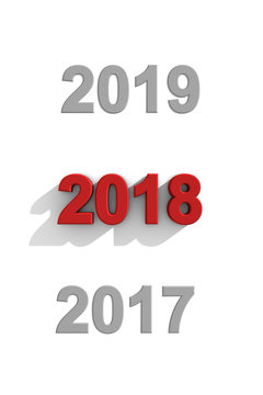 2018 New Year date sequence
