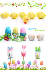 Decorations isolated on white for Easter