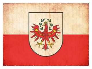 Grunge-Flagge Tirol (Österreich)