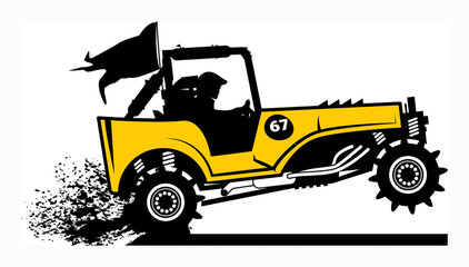 Off-road buggy, vector illustration