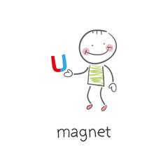 Magnet. Illustration.