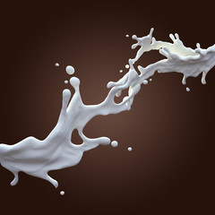 Wall Mural - milk splash
