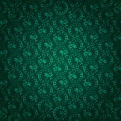 Green vintage floral seamless pattern