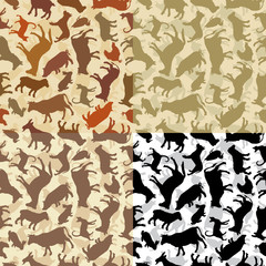 background with a silhouettes of animals