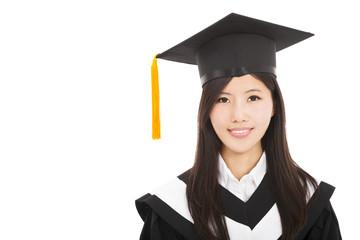 beautiful smiling Graduate asian woman
