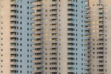 Concrete Dutch apartment buildings