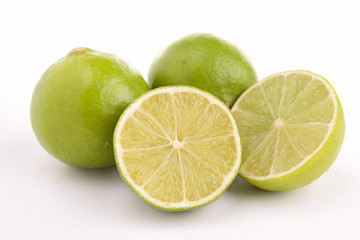 isolated green lemon