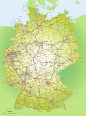 Deutschlandkarte 1:1,6 Mio