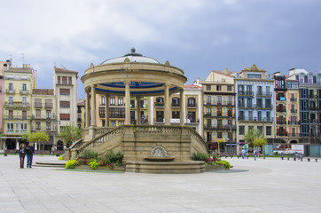 Castle Square in Pamplona,Spain