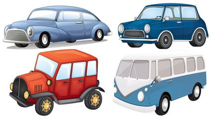 Four different kinds of transportation