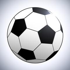 Ilustração de uma bola de futebol