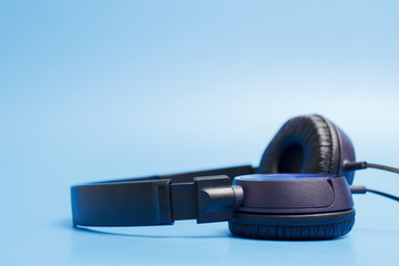 Close-up of quality plastic headphones