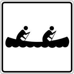 Papier Peint - Schild weiß - Boot fahren
