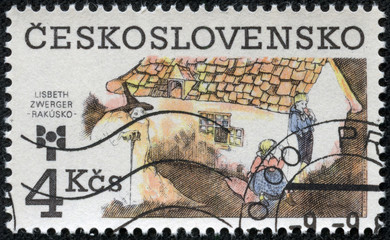 stamp printed in Czechoslovakia shows a fairy-tale